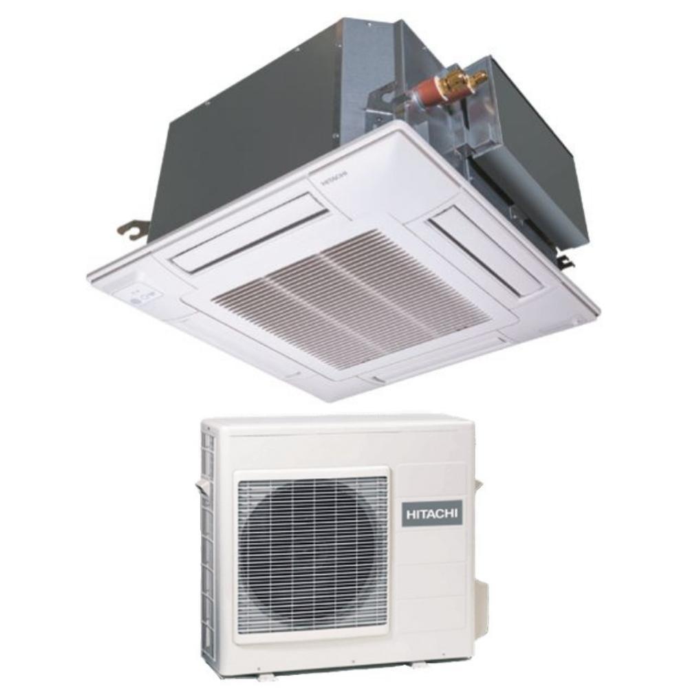 Cache Unité Extérieure Climatisation climatisation réversible cassette 600x600 hitachi xrai-25rpe – r32