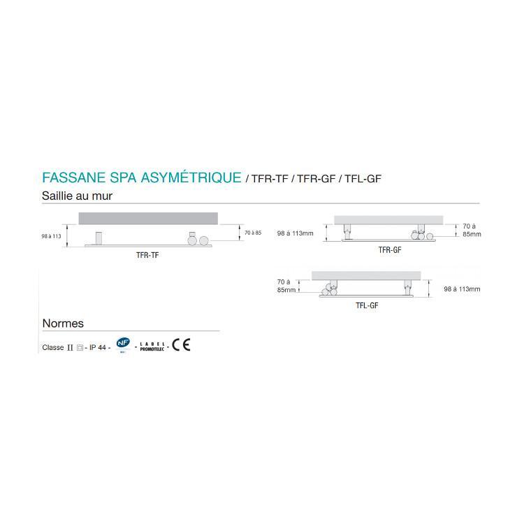 Acova Fassane Spa Asymetrique Tfl Gf Sans Soufflerie