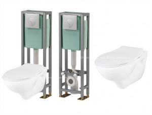 Pack WC suspendu - Bâti-chasse au sol