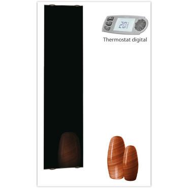 radiateur électrique design en verre de la marque Campa, modèle Campaver